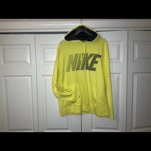 NIKE men's yellow hooded sweatshirt.  Size XL.